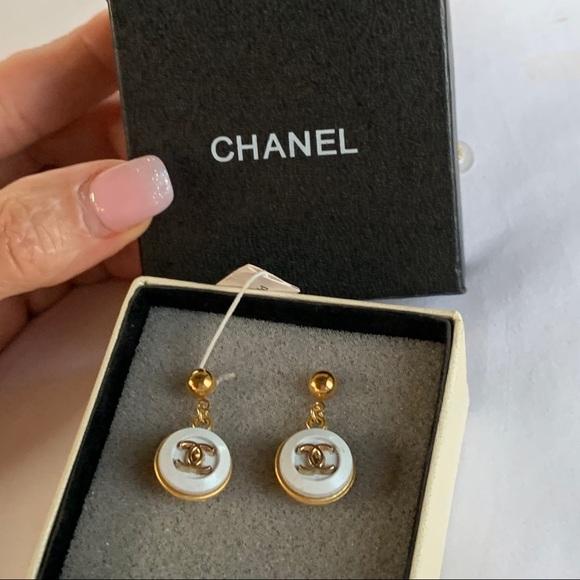Champagne Fused Glass Stud Earrings